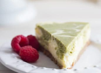This cheesecake is so creamy-dreamy, and the matcha flavor is amazing with the spices in the crust!
