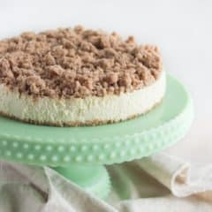 Amazing recipe! New York Crumb Cheesecake- the crumbly brown sugar streusel is so good with the creamy cheesecake!