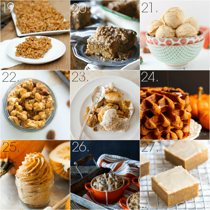 Tons of Delicious Pumpkin Desserts | Baking a Moment