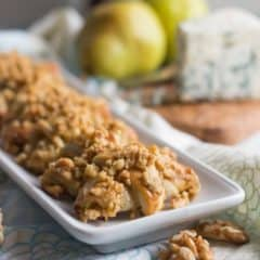 Making these for my holiday party- Pear, Blue Cheese, and Walnut Rugelach. So good with a glass of wine!