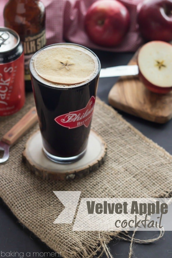 The Velvet Apple Cocktail- so perfect for a crisp day and stupid simple to make :)