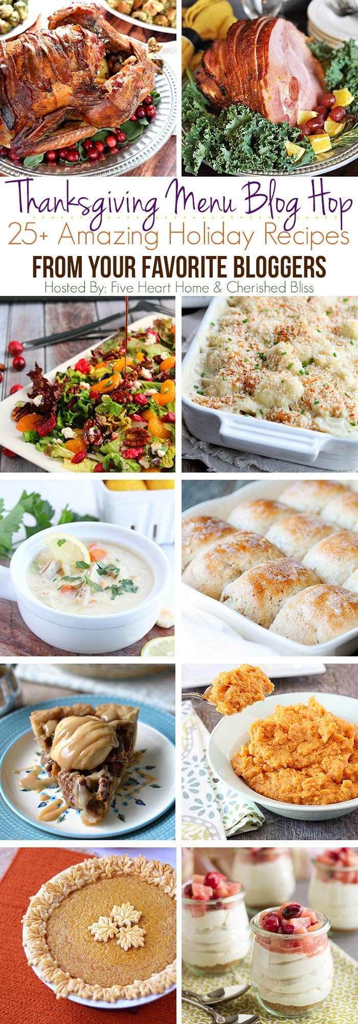 All the recipes you need to plan your Thanksgiving menu!