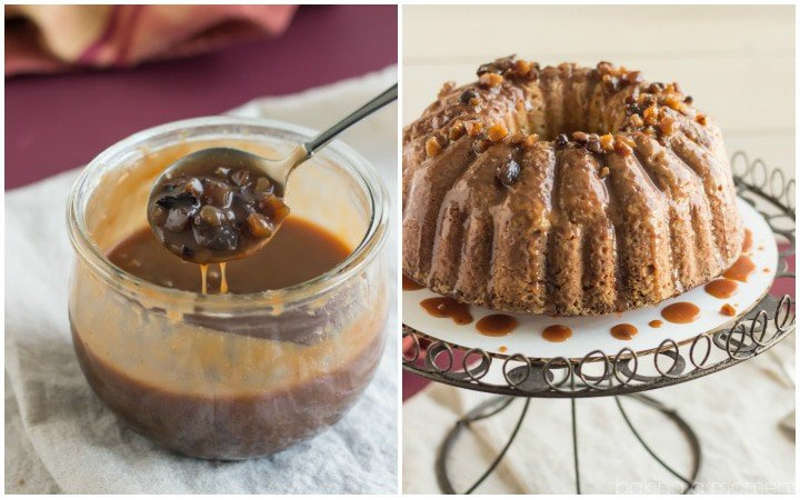 Chestnut Praline Coffee Bundt- just like the new Starbucks flavor! The brown sugar coffee pound cake is amazing and the chestnut praline drizzle is so perfect for the holidays!