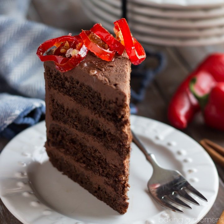 Chocolate Cake With Mexican Chocolate Frosting Baking A Moment