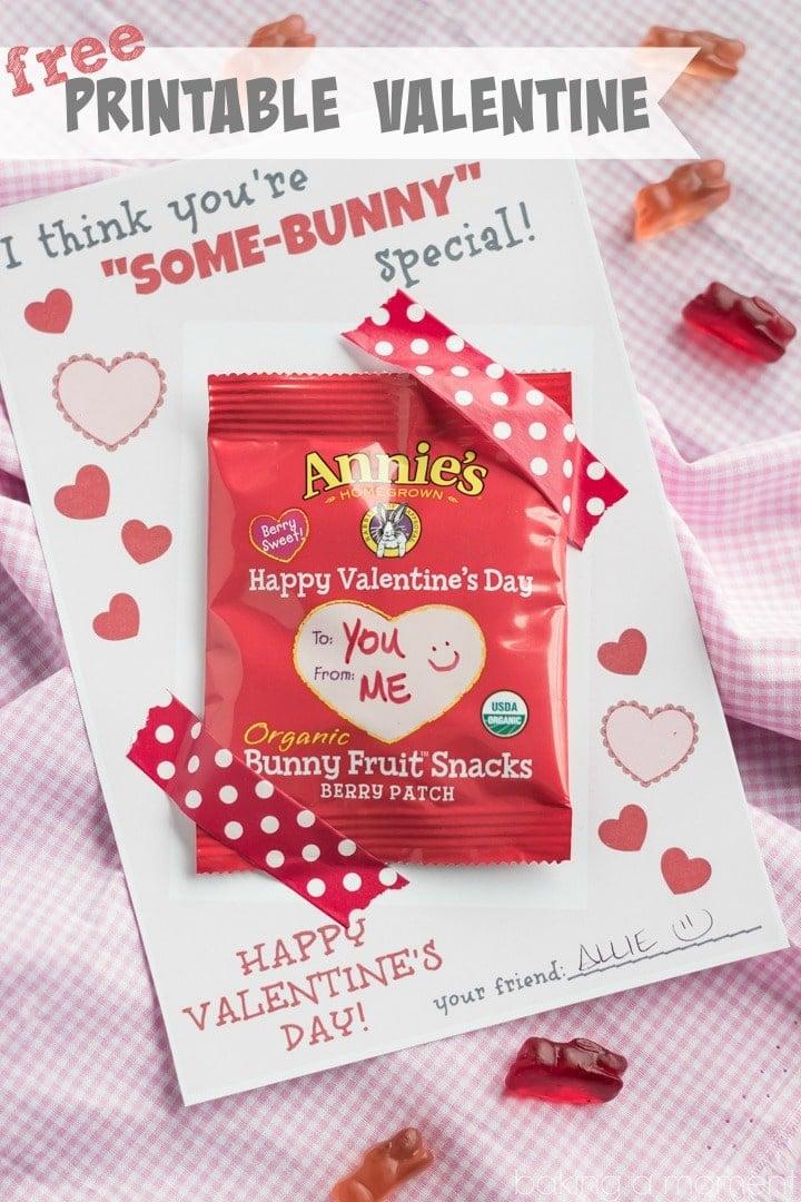 Cute Valentine's Printable for Bunny Snacks :D