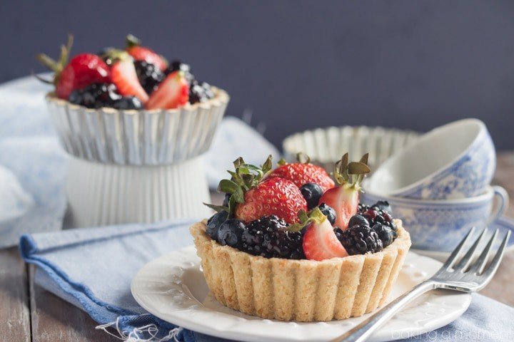 These gorgeous berry tarts were so simple to make and they tasted so good I couldn't believe they were GF & DF!