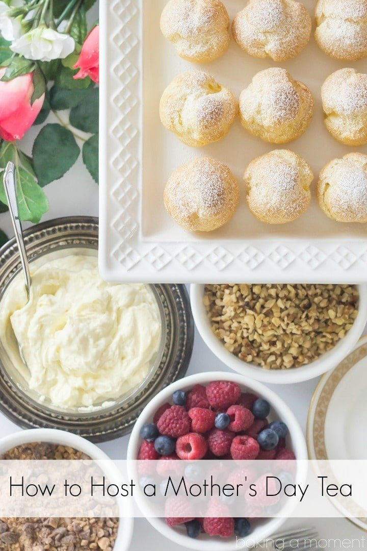 How to Host a Mother's Day Tea with a DIY Cream Puff Bar
