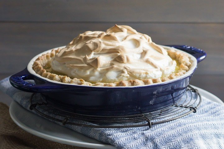 Homemade Lemon Meringue Pie- Such a classic! Love this in the summer.