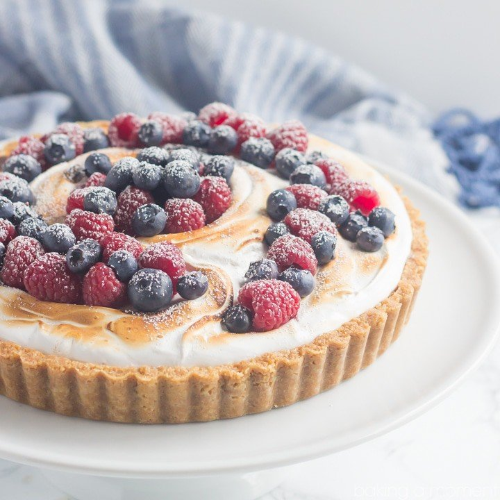 I loved the contrast between all the sweet s'mores goodness and those fresh summer berries. Definitely making this S'mores Berry Tart again for the fourth!