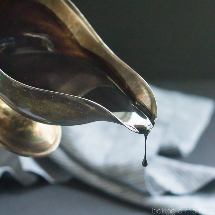 This Homemade Chocolate Syrup is so dark chocolatey! Just 4 simple ingredients and it only took 5 minutes to make. Never buying the bottled stuff again!