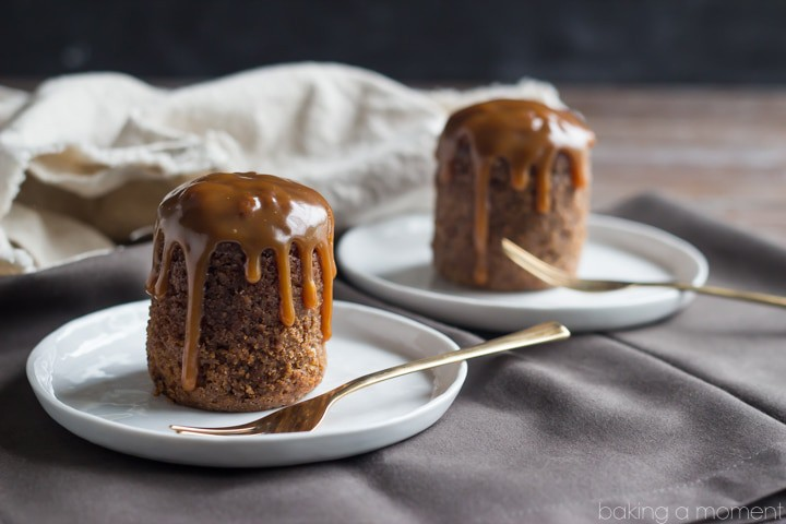 This Sticky Toffee Pudding dessert tastes just like a Dark & Stormy cocktail- full of spicy ginger with a nice boozy kick from the dark rum. The cake is so moist it melts in your mouth, and the buttery caramel sauce takes it completely over the top!