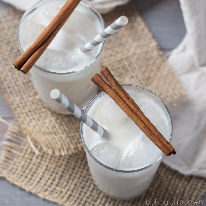 Coconut Horchata- tastes just like a rice pudding milkshake, with a hint of tropical coconut :)