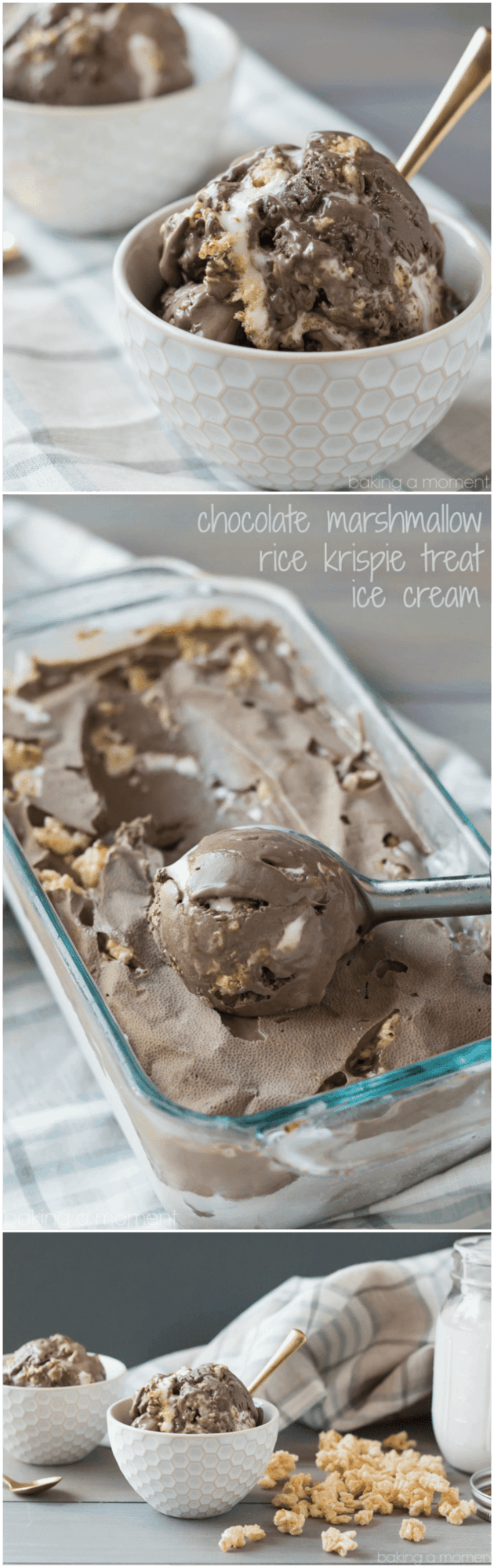 Chocolate Marshmallow Rice Krispie Treat Ice Cream- SWOON!