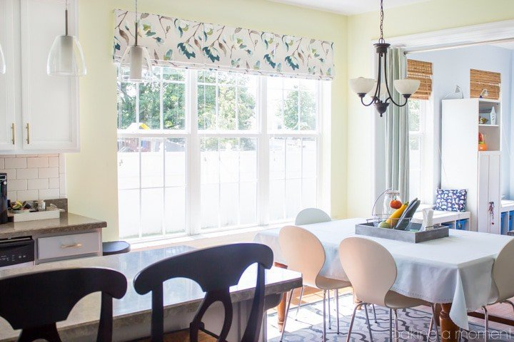 How to Choose Kitchen Window Treatments that are Beautiful and Practical | Baking a Moment @TonicLiving