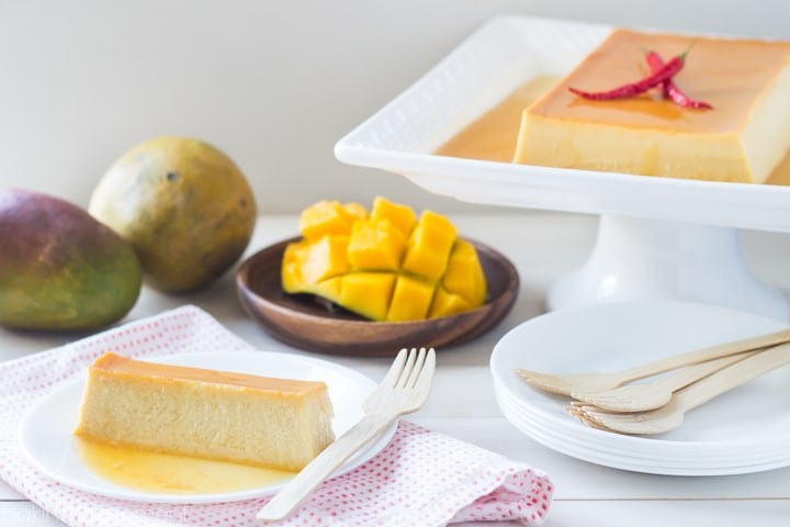 Mango Chile Flan- LOVED the hint of spice in this fruity custard! Surprisingly simple to make too ;)