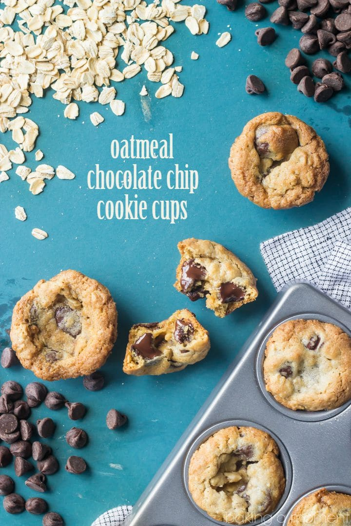 Oatmeal Chocolate Chip Cookie Cups- I make these for my kids all the time. So easy & convenient and they LOVE them!