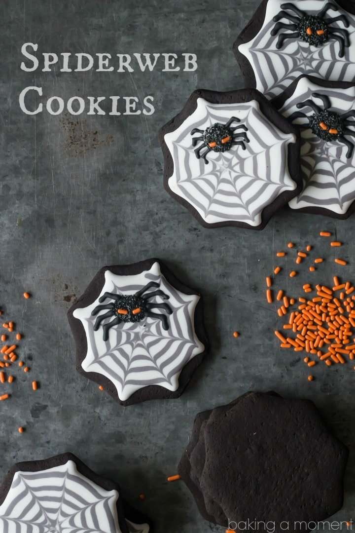 How to make Spiderweb Cookies with royal icing- these were pretty easy and kinda fun!