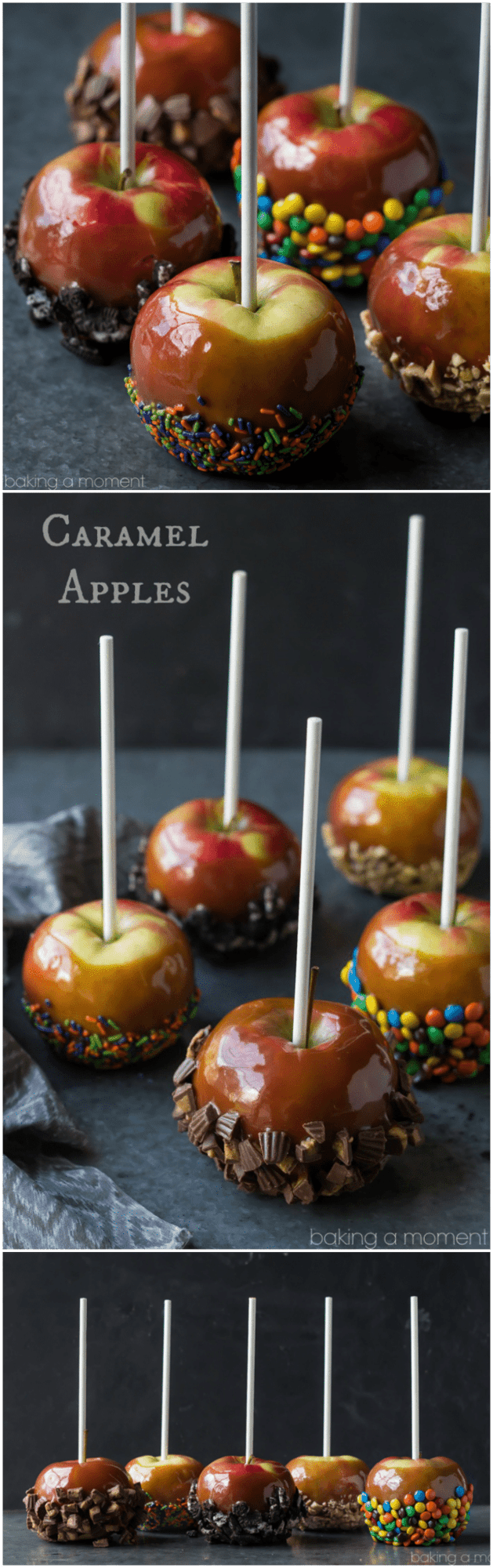Caramel Apples 5 Ways | Baking a Moment