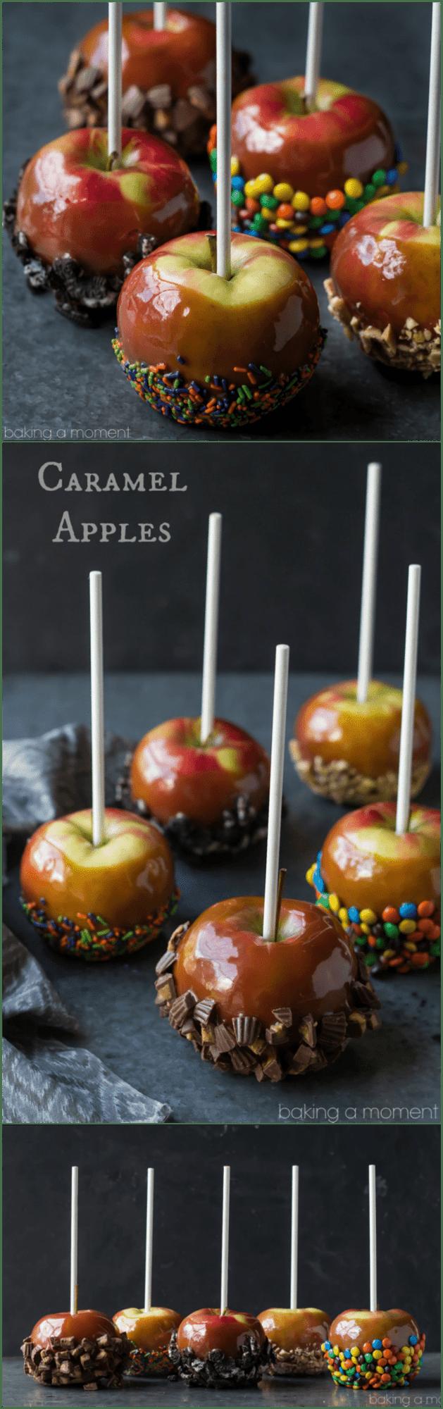 Caramel Apples 5 Ways | Baking a Moment