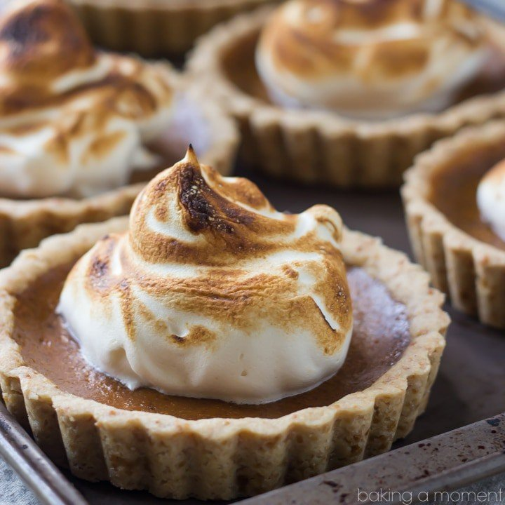 Pumpkin Meringue Tarts with a Buttery Shortbread Crust- Loved that these were made with whole wheat and had no refined sugar! The maple flavor pairs so nicely...