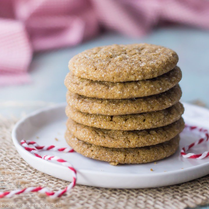 The perfect ginger cookie! These are soft and a little chewy, with a warm spiciness from the ginger and a sparkly, crunchy sugar coating. #BHGCookieExchange