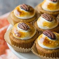 Sweet Potato Souffle Cupcakes- Inspired by everyone's favorite Thanksgiving side dish. These were so moist from the sweet potatoes and pineapple, and I loved that hint of cinnamon along with the toasted marshmallow topping!