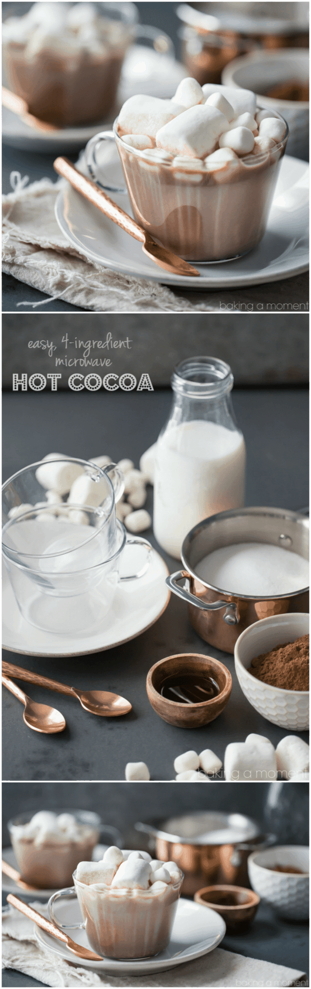 Best tasting hot cocoa ever, and so simple to make! I did this in my microwave- took just over a minute, and I had all the ingredients already on hand.