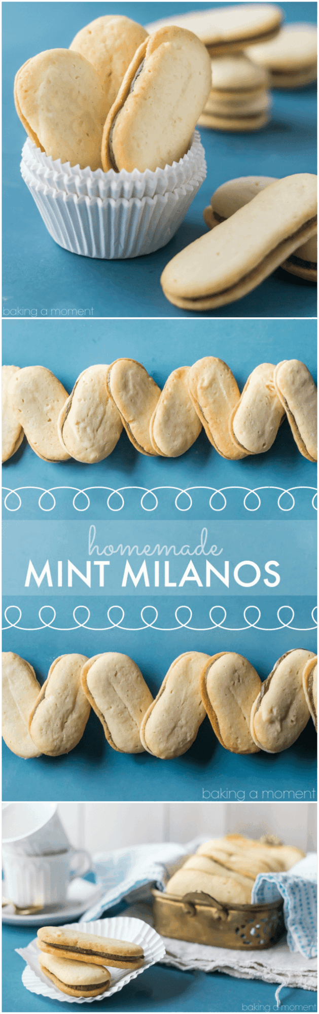 Homemade Mint Milanos- these were just like the store-bought kind only WAY BETTER!!!