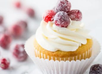 Cranberry White Chocolate Cupcakes- perfect fluffy, soft texture on the cupcake, and I loved the contrast of tart berries with that rich and creamy white chocolate buttercream!