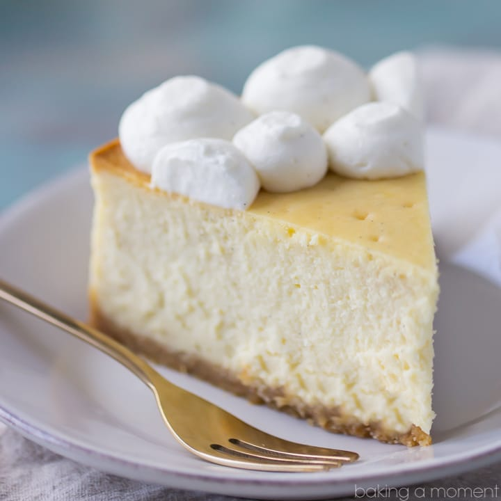 Perfection! This cheesecake was dense and creamy, and I loved the buttery vanilla wafer crust. #savetimetips https://www.pinterest.com/pamcookingspray/ #spon