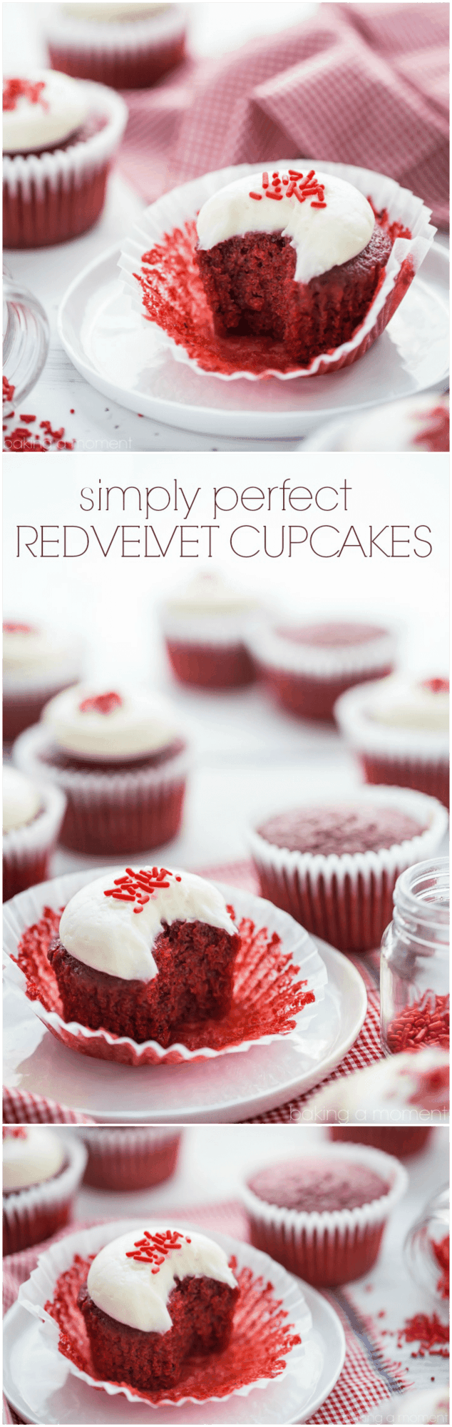 Red Velvet Cupcakes: the BEST recipe I've tried. Moist and soft, with a hint of cocoa and tangy buttermilk. Super simple to make too! food desserts cupcakes