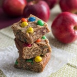 Peanut Butter Apple M&M Blondie Bars