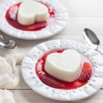 Coconut White Chocolate Panna Cotta with Blood Orange Sauce
