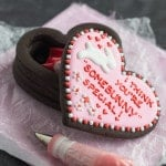A fun treat for Valentine's Day! Fill the cookie box with little treats.