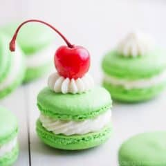 Shamrock Shake Macarons! So much fun for St. Patrick's Day!