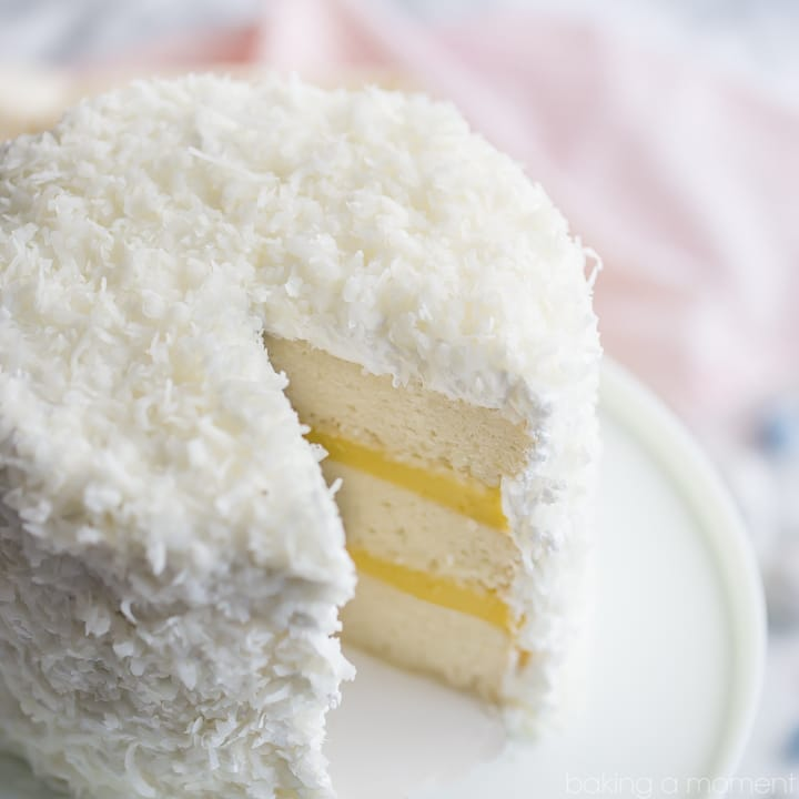 Best coconut cake ever! So much coconut flavor in every component, and it's completely dairy-free!