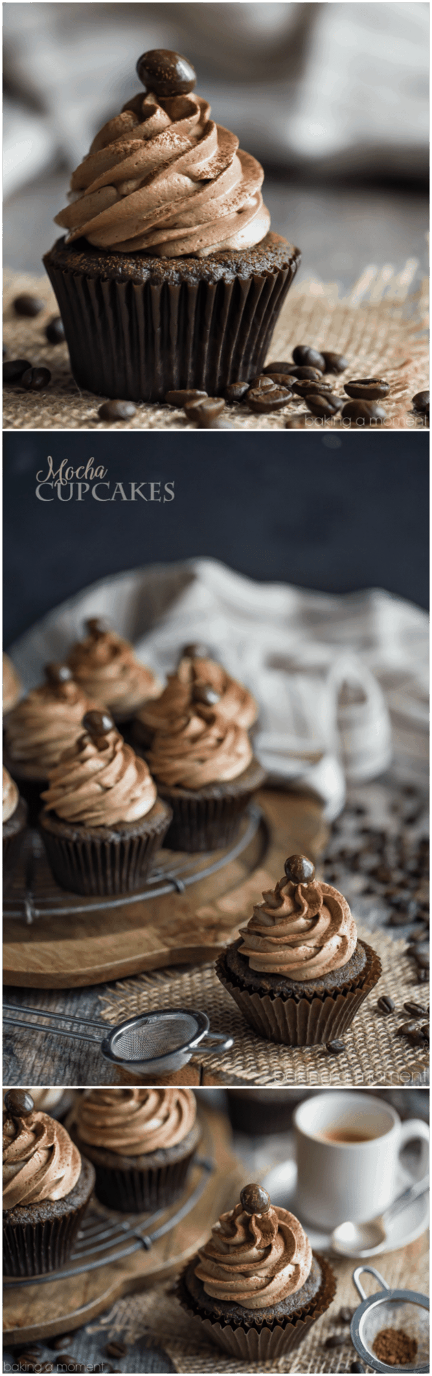 Mocha Cupcakes: Omg so good! If you like coffee and chocolate, you'll LOVE this cupcake recipe!