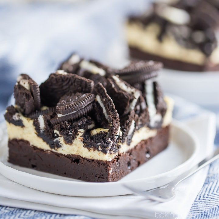 Oreo Cheesecake Brownie Bars