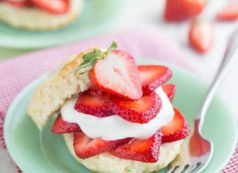 Simply Perfect Strawberry Shortcake- a summer staple! This version tastes exactly like what my grandmother used to make. #StrawberryShortcakeDay #finestberries @DriscollsBerry