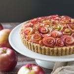 Apple Rose Tart with Walnut Crust (gluten-free)