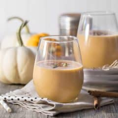 Pumpkin Spice Latte Smoothie- if you like PSL's then you'll LOVE this smoothie! Made with real pumpkin + an espresso kick that'll really jump start your morning!