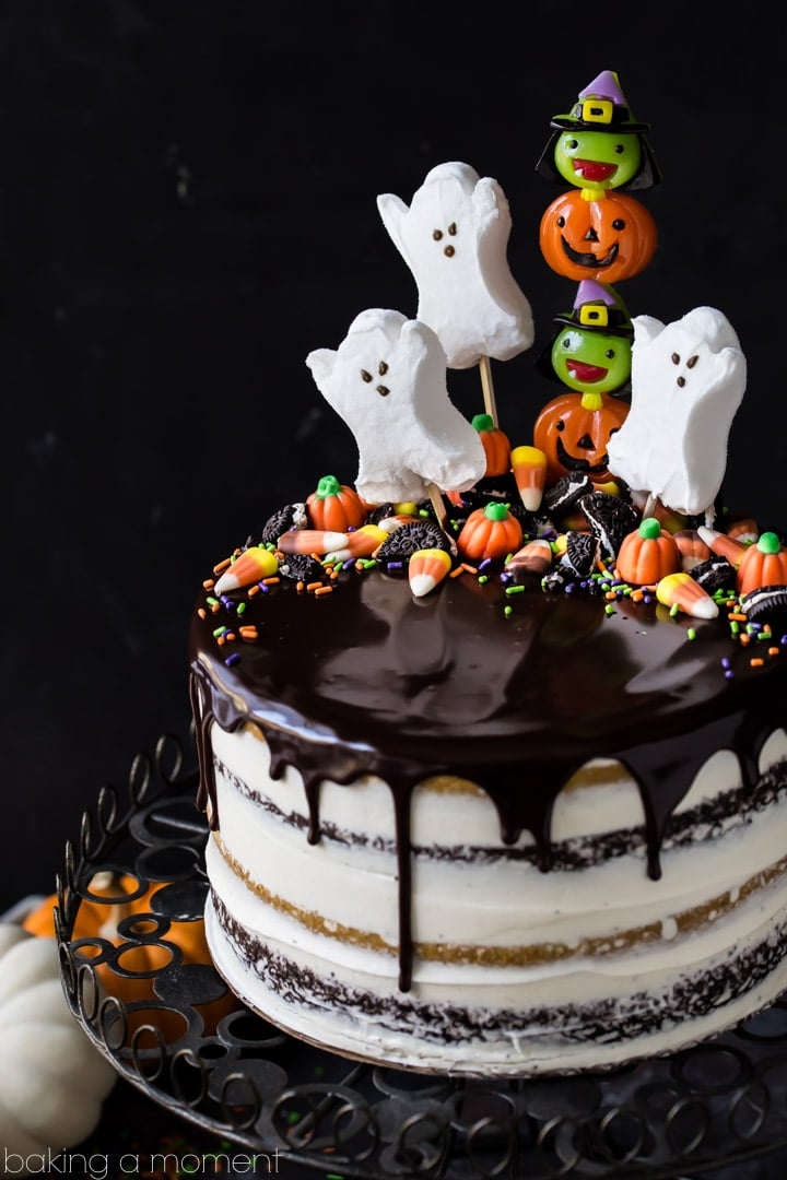 pumpkin chocolate halloween cake the layers were moist and delicious and the frosting is like