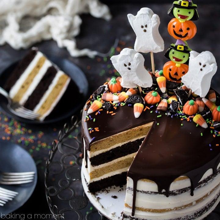Pumpkin Chocolate Halloween Cake Baking A Moment