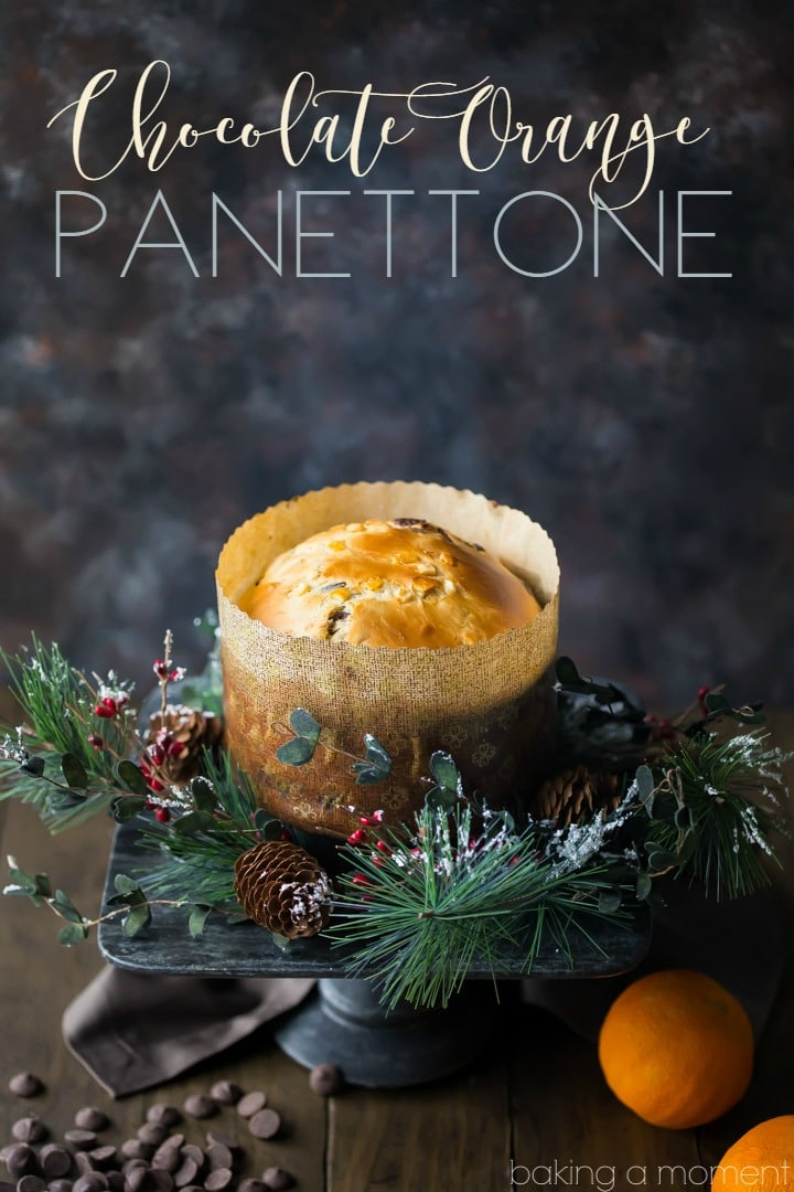 Panettone is such a classic for the holidays, but this version is totally next-level! The candied orange peel and bittersweet chocolate are studded all throughout this moist, sweet loaf, and the flavors are so spot on for Christmas! I'll be making chocolate orange panettone every year now. food desserts bread