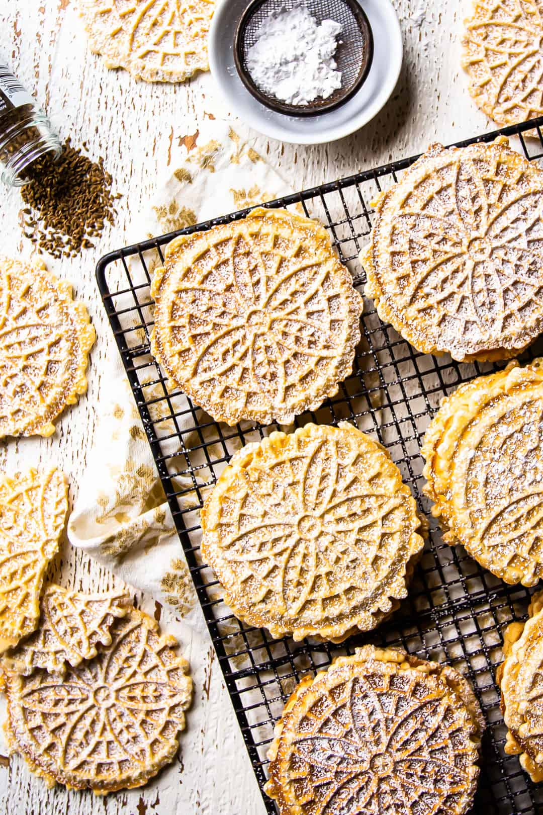 How to make pizzelles crisp.