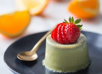 Cool, creamy, and full of earthy green tea flavor- this matcha panna cotta makes such a lovely light dessert!