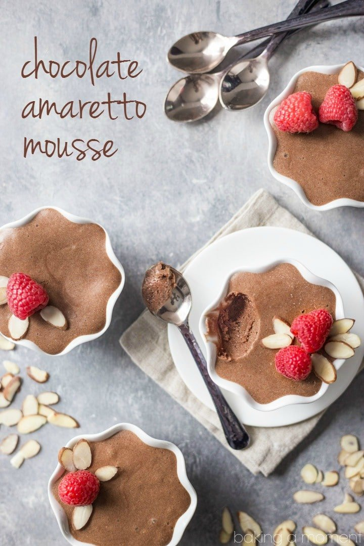 My favorite-ever mousse recipe! This chocolate amaretto mousse is the real deal, made with eggs and butter and so airy it just melts in your mouth. Loved that added hint of almond from the amaretto too. food desserts chocolate mousse