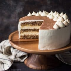 Tiramisu Cake: just like the classic Italian dessert, in layer cake form! So much rich coffee flavor, and I loved the boozy kick! food desserts cake