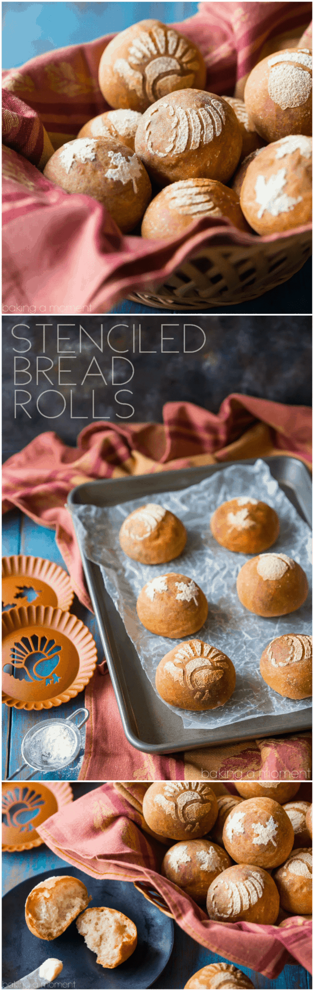 I made these stenciled bread rolls for Thanksgiving and my guests went crazy for them! It was surprisingly easy to do and it made our holiday table even more festive.  food bread crafts