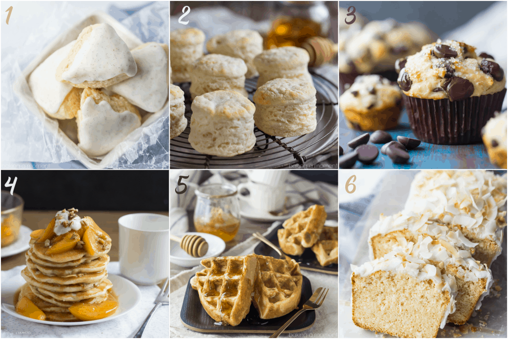 Things you can make with cake flour image collage
